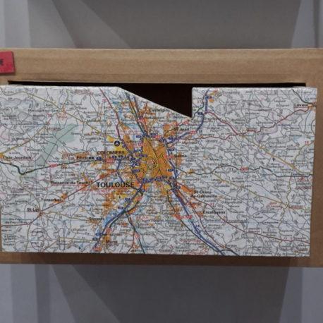 """Tiroir mural """"carte routière"""""""